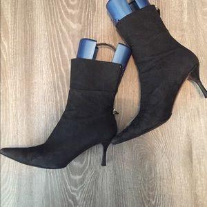 Authentic Gucci Black Canvas Monogram Boots